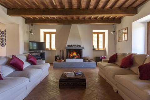 Roccone buitenverblijf Italië - Living
